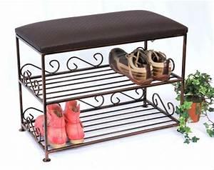 Schuhregal Mit Bank : schuhregal mit sitzbank bank 60cm schuhschrank aus metall schuhablage dandibo ~ Whattoseeinmadrid.com Haus und Dekorationen