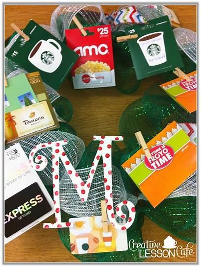 Teacher Gift Gifts Christmas Cards Wreath Class