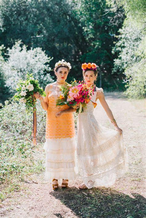 Frida Kahlo Wedding Inspiration Colorful Wedding 100