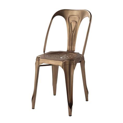 chaise indus en metal cuivre multipls maisons du monde