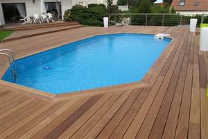terrasse en bois piscine With photo d amenagement piscine 6 amenagement dune terrasse en bois exotique autour dune