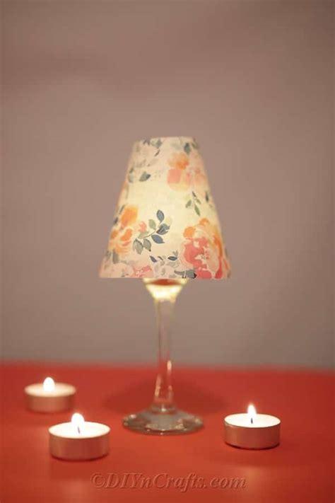 diy wine glass lantern tealight candle holders diy crafts