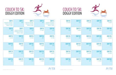 to 5k schedule to 5k edition peta