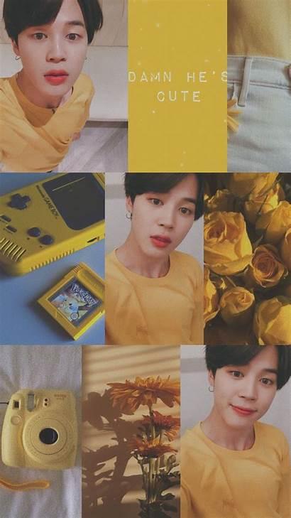 Bts Aesthetic Yellow Jimin Screen Lock Jungkook