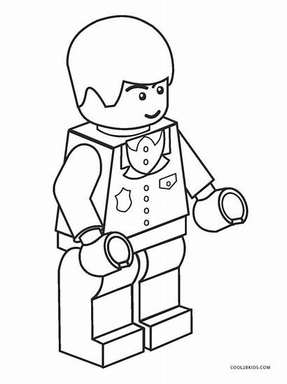 Lego Coloring Pages Printable Action Figures Blocks