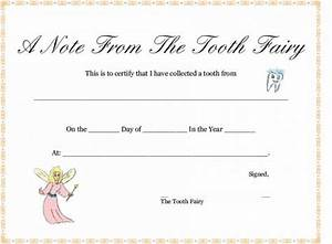 37 tooth fairy certificates letter templates printable With letter from the tooth fairy template