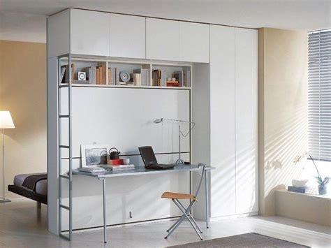 Lit Escamotable Bureau - armoire lit superposes escamotable avec bureau pliable