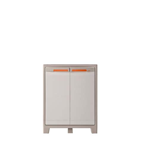 armoire de cuisine leroy merlin armoire basse résine 2 tablettes spaceo premium l 80 x h