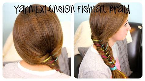 yarn extension fishtail braid color highlights cute