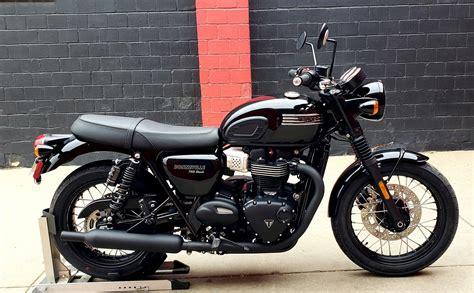 Gambar Motor Triumph Bonneville T100 by New 2019 Triumph Bonneville T100 Black Motorcycle In