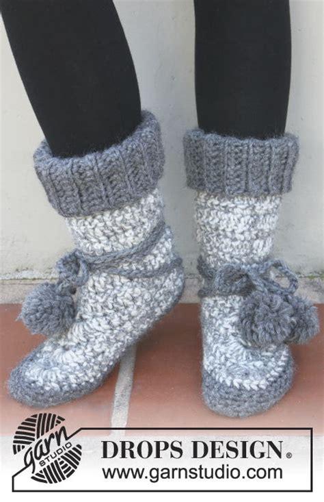 stylish knitted  crochet slipper boots  patterns