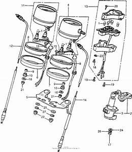 Speedometer   Tachometer   Combination Switch For 1976 Honda Cb400