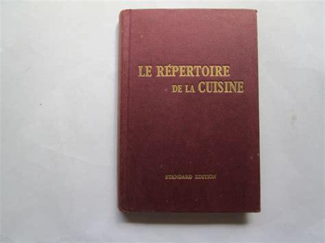 repertoire de la cuisine le repertoire de la cuisine saulnier l foxing tanning to edges and or ebay