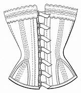Corset Coloring Template Photoshop Body Pages Steampunk Sketch Build Own Templates sketch template
