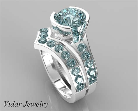unique style aquamarine wedding ring vidar jewelry unique custom engagement and wedding