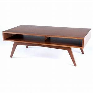 mid century modern walnut coffee table 61000 via etsy With small mid century modern coffee table