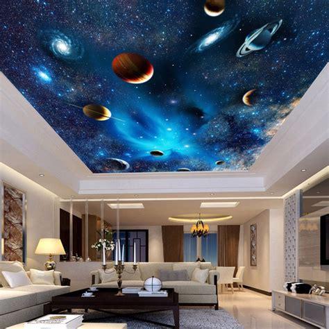 universe space planet night sky stars photo mural  kids