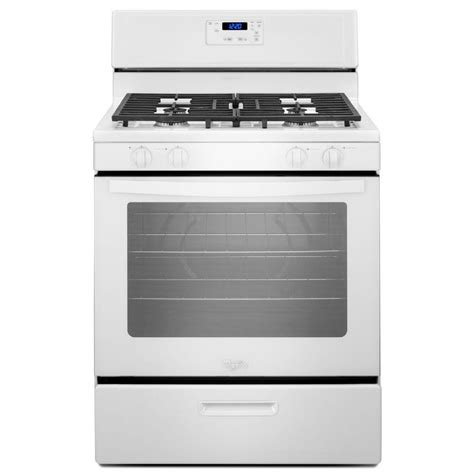 shop whirlpool freestanding 5 1 cu ft gas range white common 30 in actual 29 88 in at