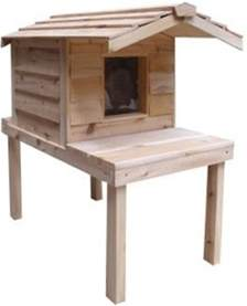 outdoor cat houses insulated cedar outdoor cat house with lounging deck and