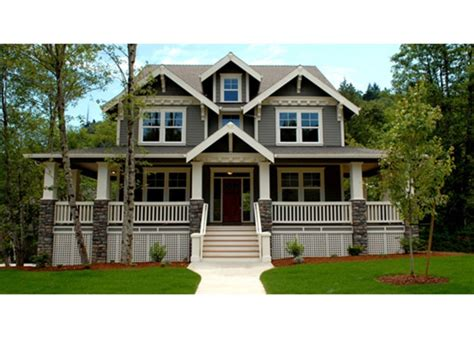 two house plans with wrap around country porch
