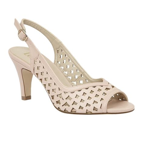 Lotus Canaan Pastel Pink Slingback Court Shoes Shoes