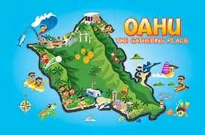 Oahu Fun Map Playing Cards - The Islander Group