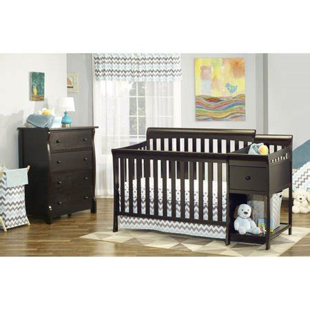 4 in 1 crib and changer combo sorelle florence 4 in 1 crib changer combo espresso