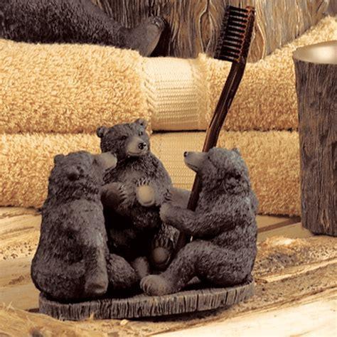 Black Bear Lodge Toothbrush Holder