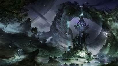 Fantasy Magic Wizard Dark Wallpapers Sorcerer Magician