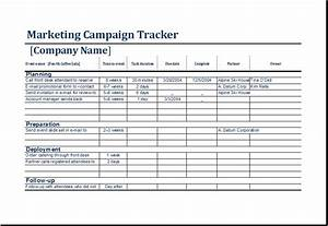 Marketing campaign tracker template ms excel excel templates for Campaign schedule template