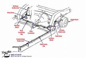 1964 Corvette Rear Brake Lines Parts