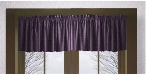 Solid Eggplant Purple Window Valance Calvin Klein Shower Curtain Black And White Valance Curtains Pittsburgh Penguins How To Make A From Fabric Hang Balloon Clips Wall Ceiling Track System Kitchen Ebay