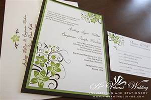 brown and green wedding invitation a vibrant wedding With wedding invitations less than 1 each