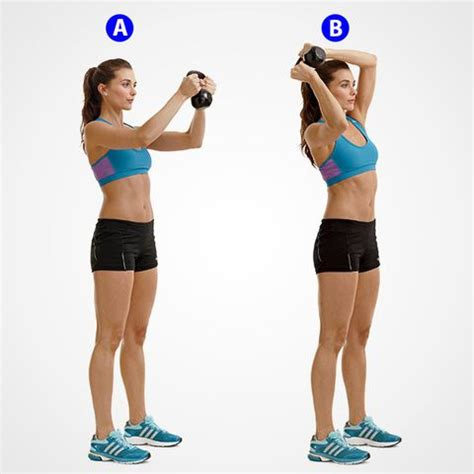 kettlebell halo muscles workout exercist bischoff beth holding six stand