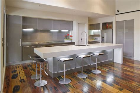 7 kitchen island gray cabinet on the gray wall combined with gray