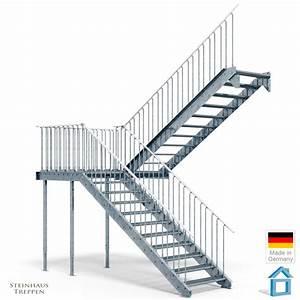Vordach Bausatz Stahl : au entreppe stahl bausatz mit mittel podest zum 2ten stockwerk mit din stahlgitter stufen ~ Whattoseeinmadrid.com Haus und Dekorationen