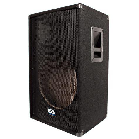 dj speaker box cabinet seismic audio empty 15 inch pa dj band speaker