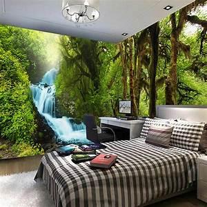 Nature Scenery 3D Wall Mural Custom HD HD Tropical Rain ...