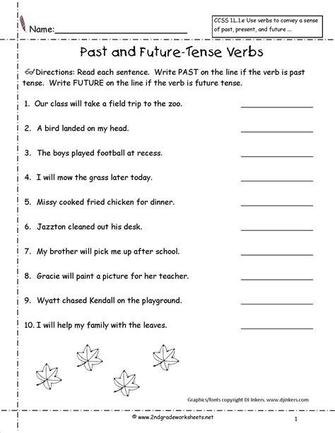 past tense verb worksheets for 1st grade homeshealth info