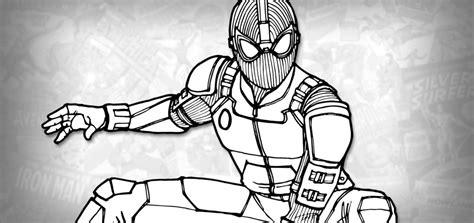 draw spider man stealth suit spider man