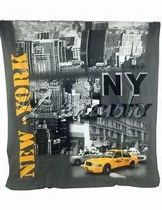Plaid New York : plaid coperta new york cm 130x160 polar digital ~ Teatrodelosmanantiales.com Idées de Décoration