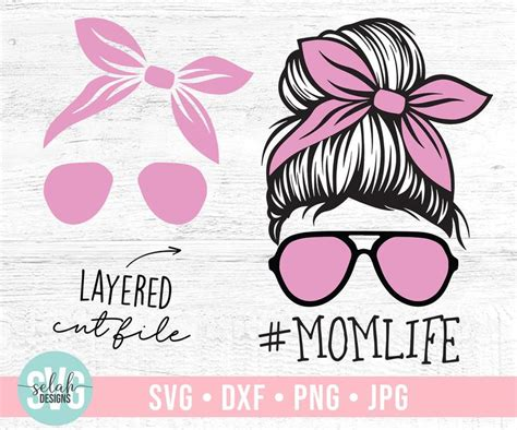 I do have one question though.i downloaded the svg for the military mom with the dog tags for each branch as the o, but for the life of me, i can not find the blank for it. Gelaagde Mom Skull Svg Messy Bun Svg Skull Svg Mom life | Etsy