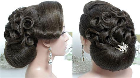 bridal hairstyle  long hair tutorial wedding bun updo