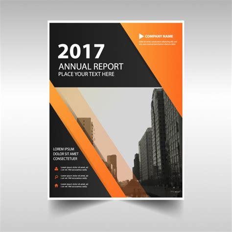 orange black triangle bok cover template design vector
