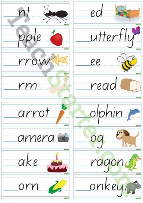 missing letter alphabet cards teaching resource teach