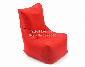 cover only no filler red bean bag cover l back support With bean bag chair with back support