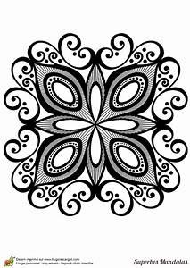 Dessin De Plume Facile : coloriage d un superbe mandala g om trique de forme carr ~ Melissatoandfro.com Idées de Décoration