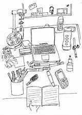 Desk Coloring Adult Desktop Colouring Chocolates Mess Mints Called Desks sketch template