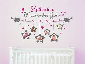 Wandtattoo Mit Bilderrahmen : baby wandtattoo fotorahmen mein erstes jahr mit name bei ~ Bigdaddyawards.com Haus und Dekorationen