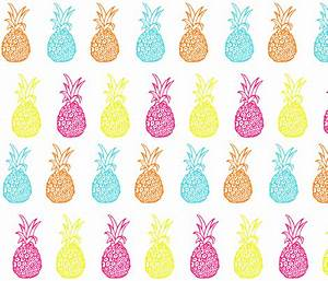 Neon Summer Bright Pineapple Party Print fabric